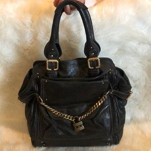 Authentic large black Chloe Shoulder Bag